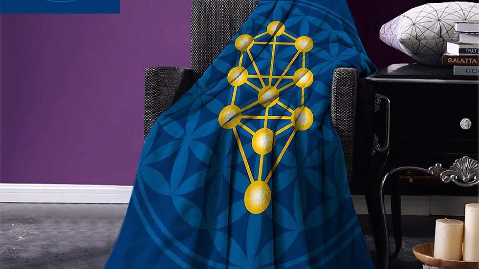 Flower of Life  Warm Microfibre Blanket/Throw