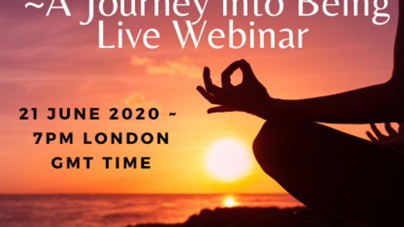 Finding Peace – A Journey into Being – Live Webinar