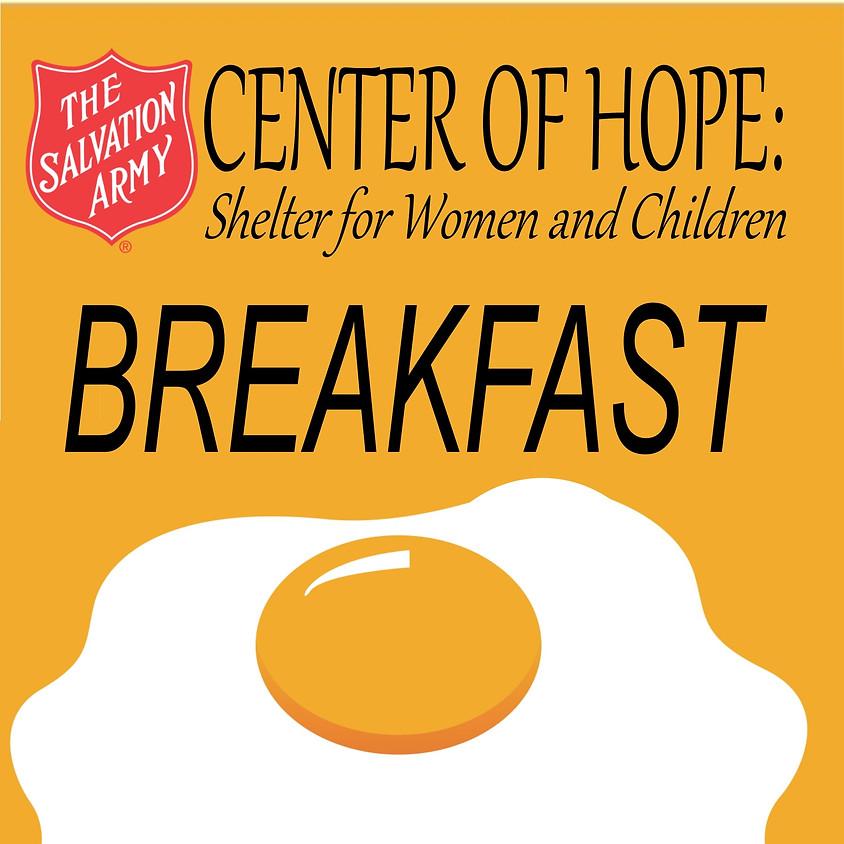 Provide Supplies: Center of Hope Breakfast
