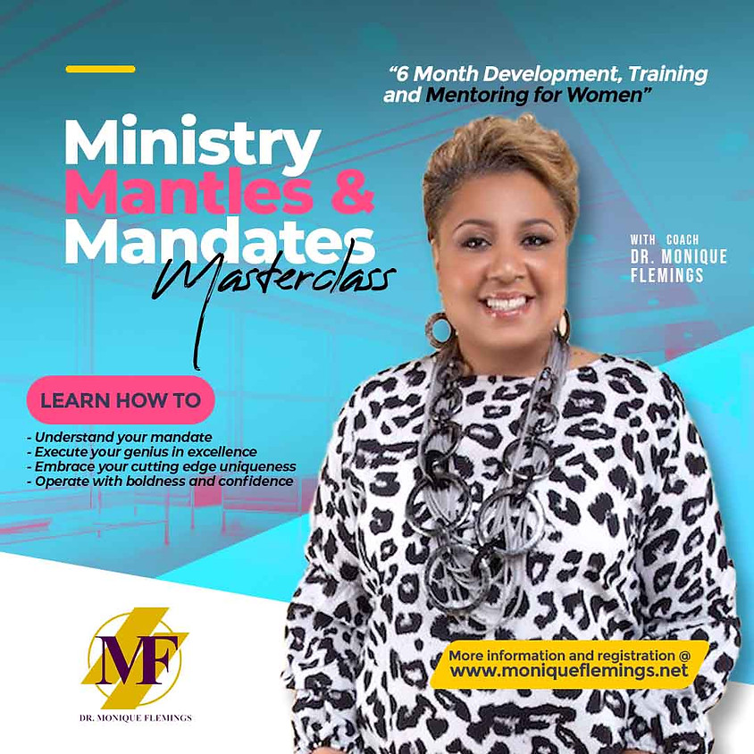 Ministry, Mantles and Mandates MASTERCLASS REGISTRATION