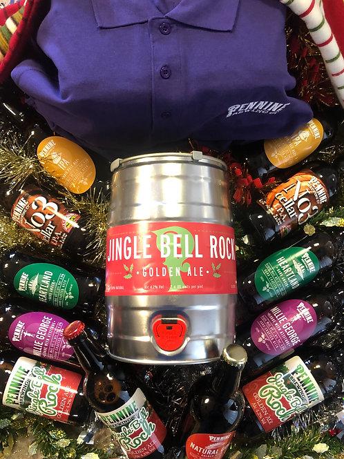 Gift Pack - Case of 12x Bottles, 1x 5L Mini Keg + 1x Polo – Shirt