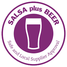 Pennine Brewing Co toasting success after gaining the highly prized SALSA plus Beer Accreditation