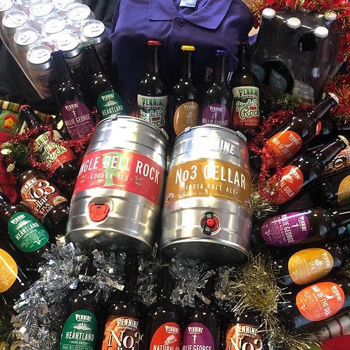 Ultimate Gift Pack - 2x 5LMini Keg 36 x Bottles, 12 x Cans + T-Shirt