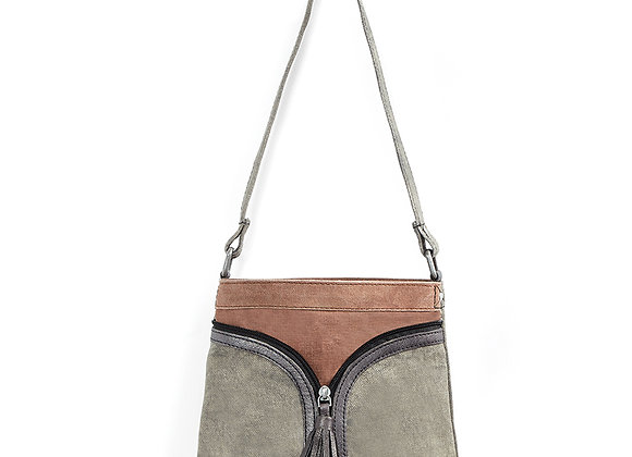 Mona B Cross City Crossbody- Smoke