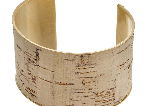 Ivory Metal Cork Cuff