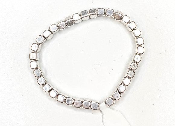 Small metal beaded bracelet