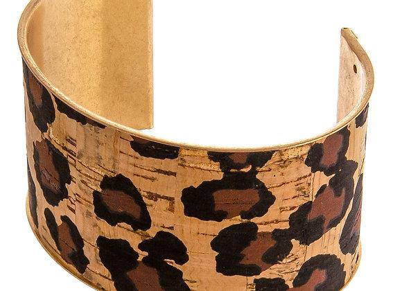 Leopard Metal Cork Cuff