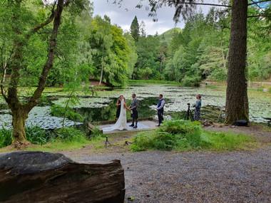 Scottish Elop[ement wedding. Thistle Piping Central Scotland. Wedding Piper