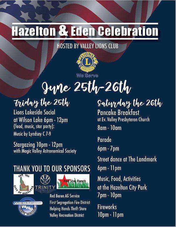 Hazelton and Eden Celebration