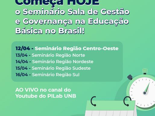 Seminários do projeto Sala de Gestão e Governança – 12 a 16 de abril