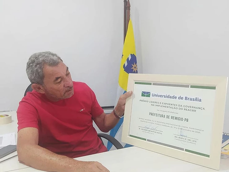 REMÍGIO: Gestão do prefeito André Alves é nacionalmente reconhecida e premiada