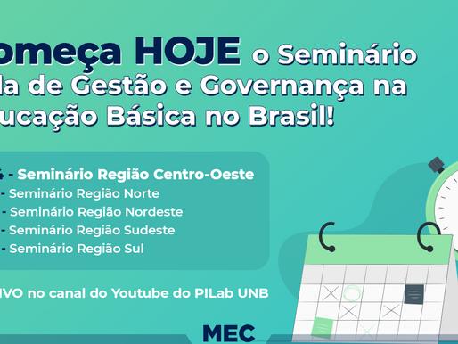 Seminário do Projeto Sala de Gestão e Governança da Educação Básica teve início nessa segunda (12).