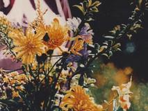 Le bouquet de Diane avec son anorak rose