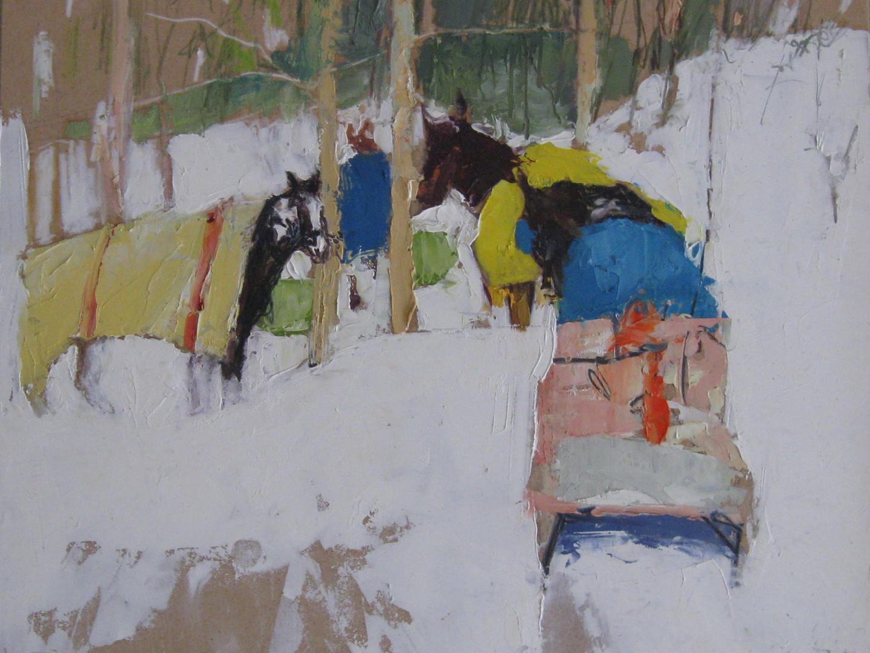 Nos chevaux (Pause au camps en hiver)