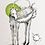 "Thumbnail: ""Dogpot and Birdpot""  A6 postcard"