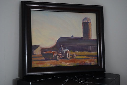 Working Farm framed by Charlie Gaulin