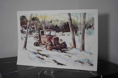 Old Ford Truck print by Charlie Gaulin