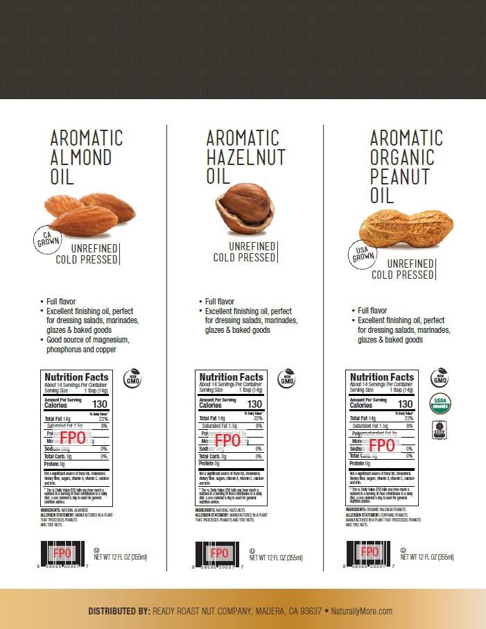 Almond Oil, Hazelnut Oil, Organic Peanut Oil