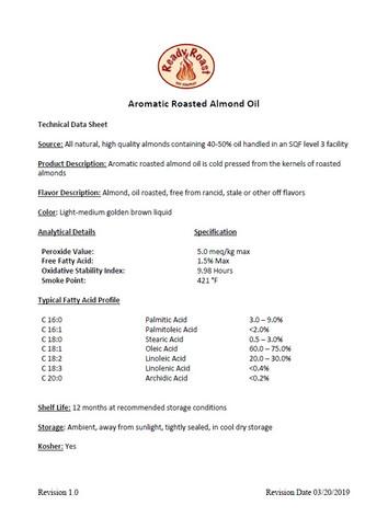 Almond Oil Technical Data Sheet