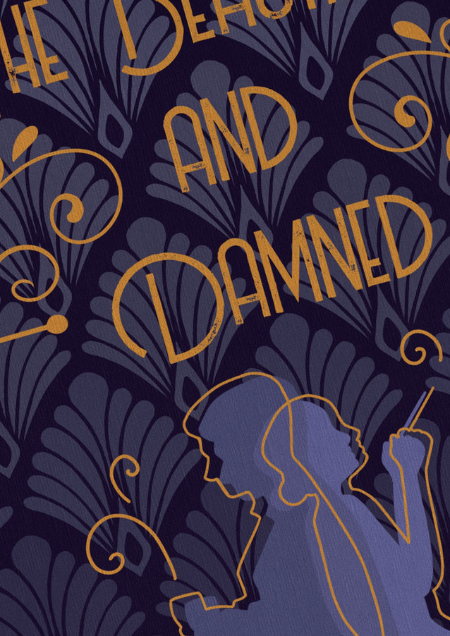 Beautiful and damned book cover close up