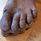 pierced stocking foot