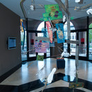 printed recycled materials and body cast mobile