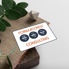 Création de carte de visite pour la société FORMACCREST CONSULTING.