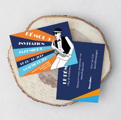 Carton d'invitation pour la nuit du jazz au Bémol 5