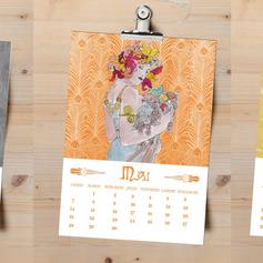 Création de calendrier d'inspiration Mucha