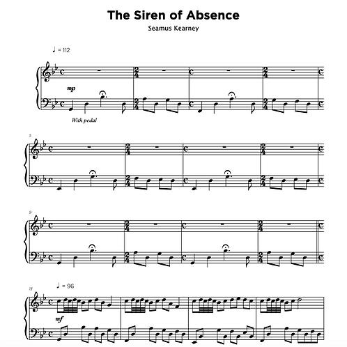 Sheet Music - The Siren of Absence