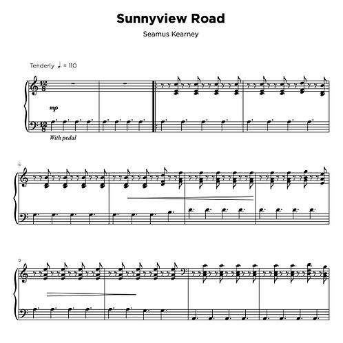 Sheet Music - Sunnyview Road