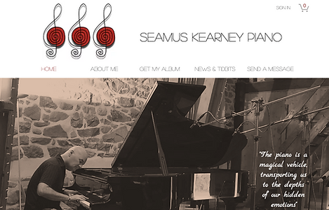 Seamus Kearney Piano website