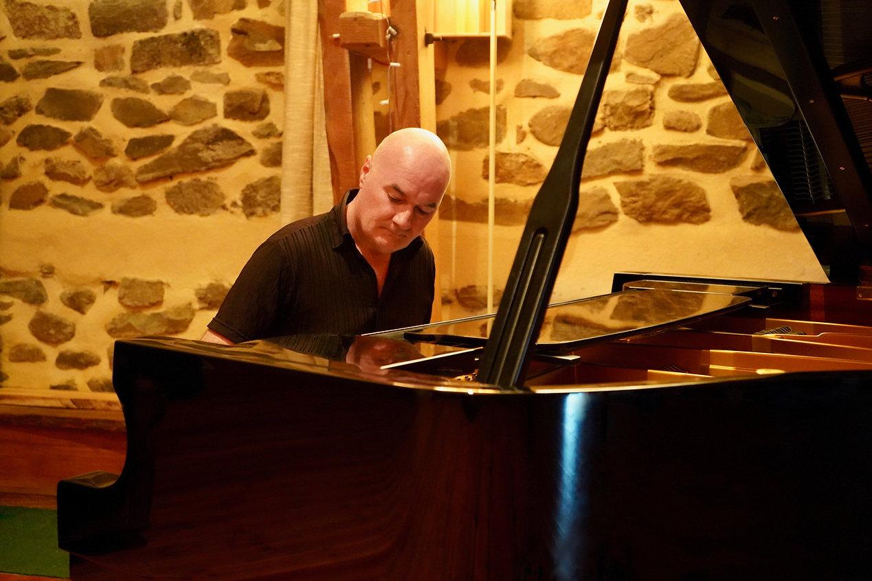 Composer & pianist Seamus Kearney recording his music album, Journeys Inside My Piano. Seamus Kearney Piano - Lyon, France.
