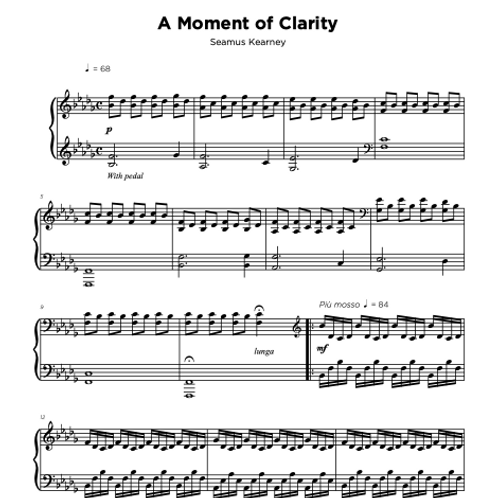 Sheet Music - A Moment of Clarity