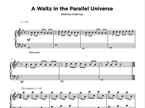 Sheet Music - A Waltz in the Parallel Universe
