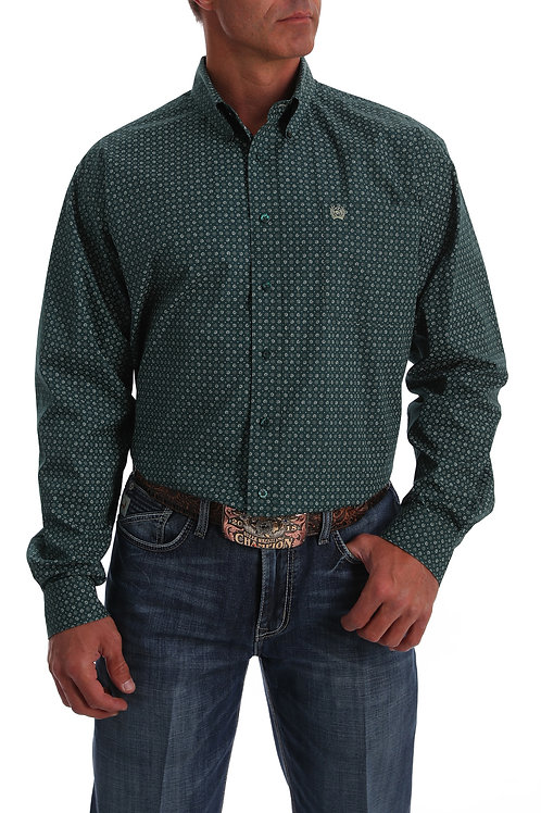 MEN'S CINCH GREEN L/S PRINT MTW1105049