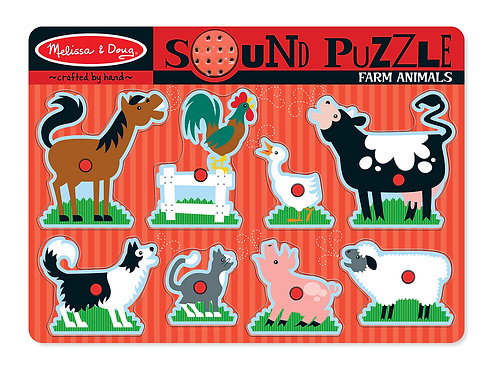 MELISSA & DOUG FARM ANIMAL SOUND PUZZLE 726