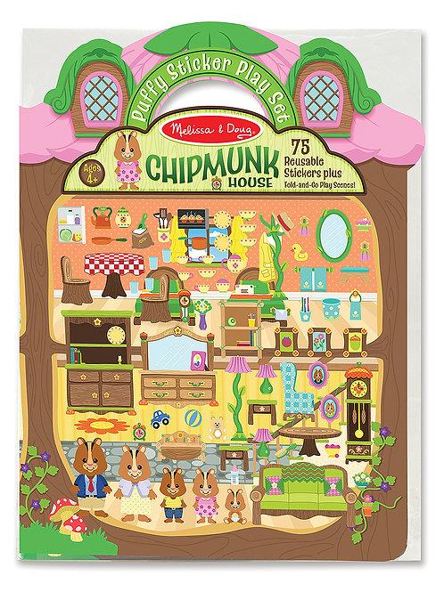 MELISSA & DOUG Puffy Sticker Chipmunk House 9101