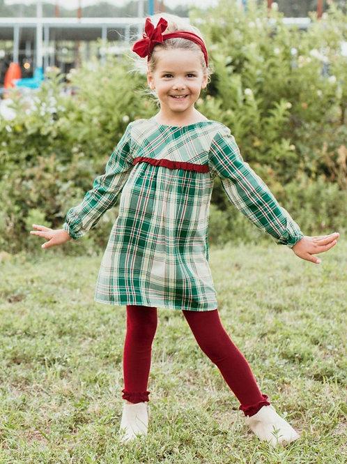 GIRL'S PLAID RUFFLE DRESS BY RUFFLEBUTTS SDWPL