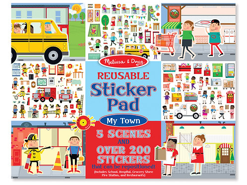 MELISSA & DOUG STICKER PAD- MY TOWN 9114