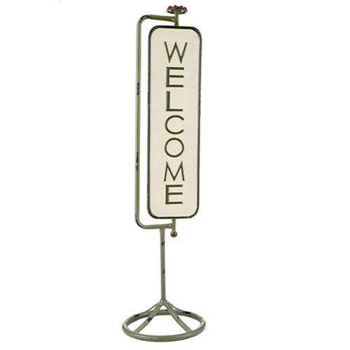 METAL WELCOME PORCH SIGN 30071384