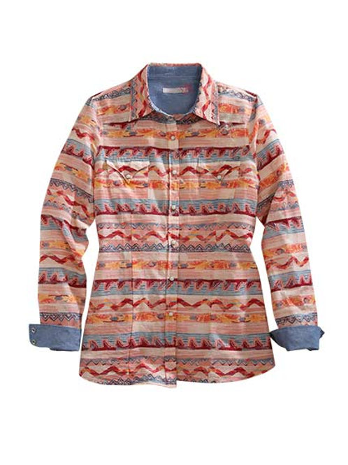 WOMENS' TIN HAUL AZTEC L/S BUTTON UP 0270