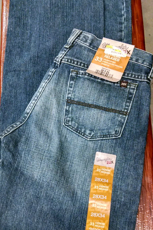 WRANGLER MENS' 20X 33 EXTREME RELAXED JEANS