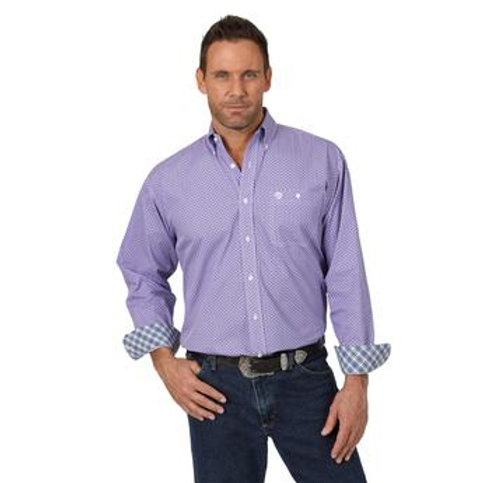 MEN'S WRANGLER PURPLE BUTTON UP MGSP715