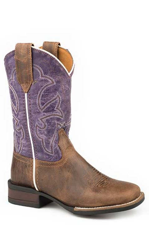 KID'S ROPER SQ TOE LEATHER BOOT 2493