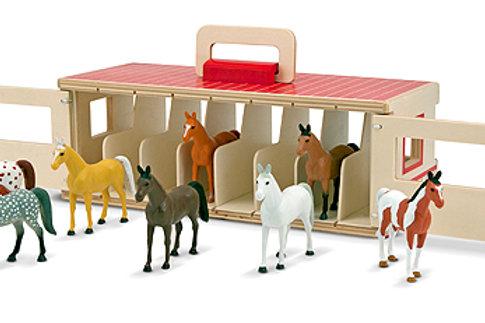MELISSA & DOUG TAKE-ALONG SHOW-HORSE STABLE 3744