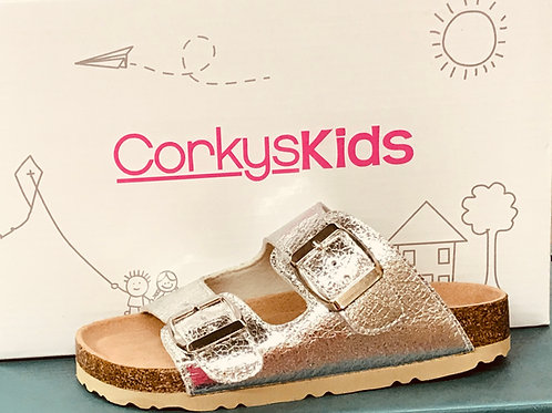 GIRL'S CORKY PLAYGROUND SANDAL SILVER