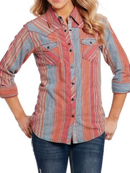 COWGIRL  UP VINTAGE WASH WOVEN CG70905