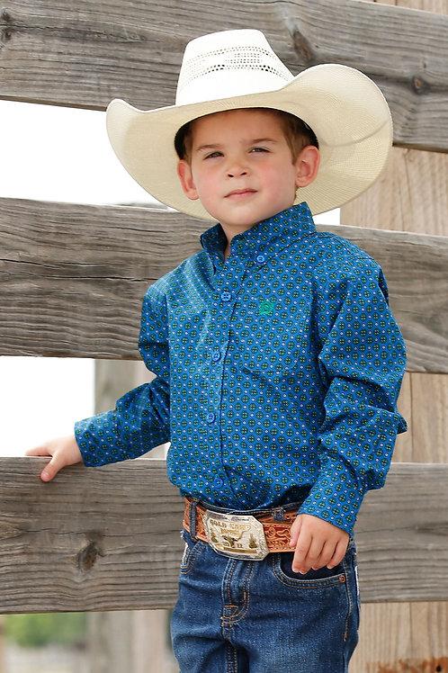 LITTLE BOY'S CINCH BLUE PRINT L/S BUTTON UP MTW7061230