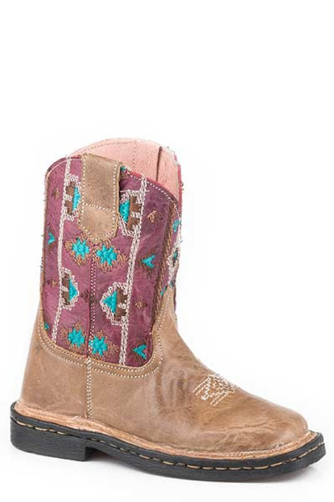 TODDLER GIRL'S AZTEC TOPPED ROPER BOOTS 1411